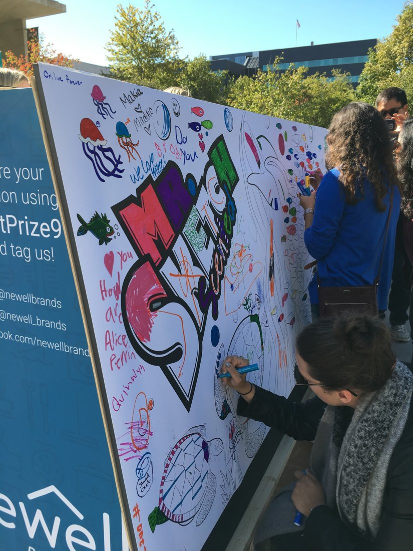 """SHARPIE GOES """"WALL""""-IN AT ARTPRIZE EVENT"""