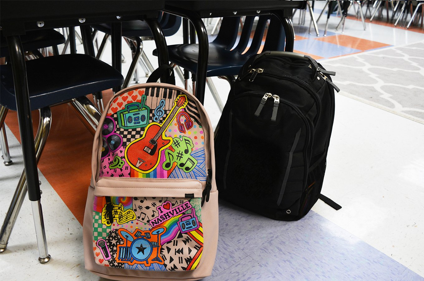 PERSONALIZED BACKPACKS WITH SHARPIE